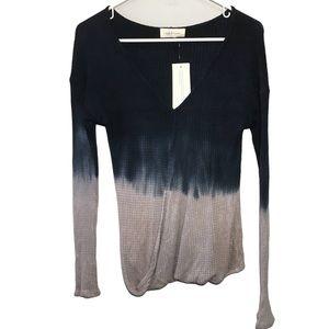NWT Abree Tie Dye Ombré Long Sleeve Shirt S